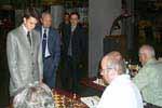 Etienne Bacrot and Juan Antonio Samaranch